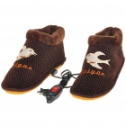 Stylish Cotton Cushion 2-Mode Electric Foot Warmer for Cold Winters - Size 29 (220V/Flat Plug)