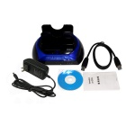 "USB 3.0 2.5""/3.5"" SATA/IDE Dual HDD Docking Station - Black + Blue"