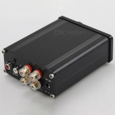 TPA3116 330UF / 35V HiFi Class D Audio Digital Power Amplifier, Mini Home Aluminum Enclosure Amplifier Black