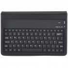 Bluetooth Keyboard with Folding PU Leather Case for Samsung P1000 (Black)