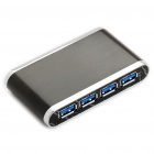 USB 3.0 4-Port Hub with Power Adapter - Color Assorted (Super Speed 5Gbps)