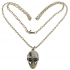 Vintage Scare Cool Skull Style Crystal + Alloy Necklace (82CM-Length)