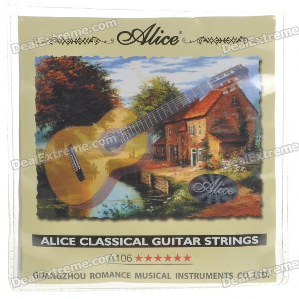 Alice A106-H Classical Guitar Nylon Strings Set (6-String Set) savarez 510 cantiga series alliance cantiga ht classical guitar strings full set 510aj