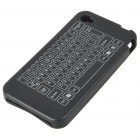 Protective Keyboard Pattern Silicone Case for iPhone 4 - Black