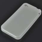 Glow-in-the-Dark Protective Silicone Case for iPhone 4 - Translucent White