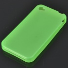 Glow-in-the-Dark Protective Silicone Case for Iphone 4 - Translucent Green