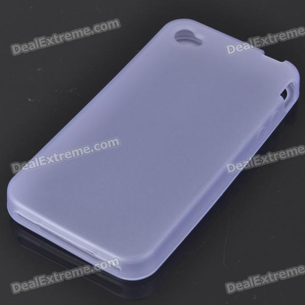 Glow-in-the-Dark Protective Silicone Case for Iphone 4 - Translucent Blue sylvanian families семья лабрадоров 5182
