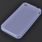 Glow-in-the-Dark Protective Silicone Case for Iphone 4 - Translucent Blue