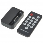 USB Charging Dock Station with 3.5MM Line Out + Remote Controller for iPhone 4 - Black