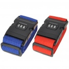 Couple Lovers Luggage Belt Strap with Number Lock Travel Needed - Red + Blue (2-Piece Pack)