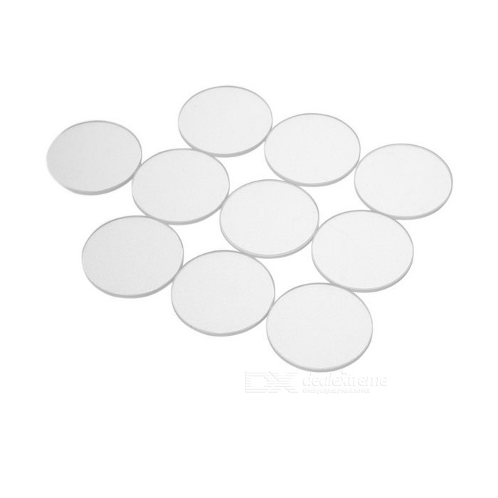 Glass Lens for Flashlights (27mm 10-Pack)