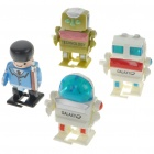 Clockwork Wind-Up Walking Robot Toys - Style Assorted (4-Pack)