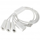 High Speed USB 2.0 4-Port Hub for Iphone3G/3GS/4/Ipad - White