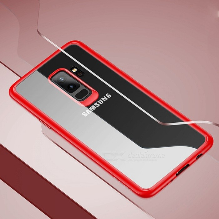 USAMS TPU+PC Fitted Cases New Anti-knock Dirt-resistant Transparent Cell Phone Case For Samsung Galaxy S9 Black/PC + TPU/S9