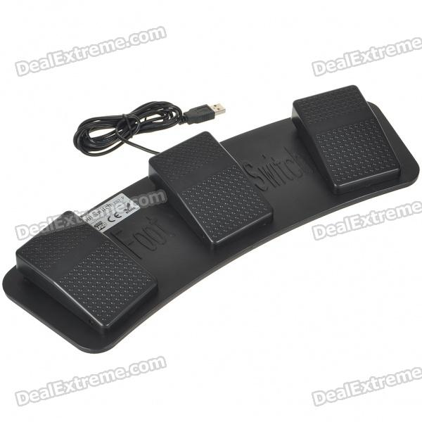 USB Triple Action Foot Switch Keyboard Control Foot Pedal