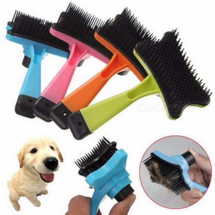 Pet Accessories Brand New Professional Puppy Cat Hair Grooming Slicker Comb Gilling Brush Quick Clean Tool Pet Light Green