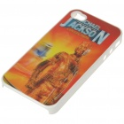 Protective PC Back Case with 3D Graphic for iPhone 4 - Michael Jackson (Red)