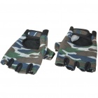 Bicycle Half-Finger Gloves - Camouflage - Random Style (Even Size/Pair)