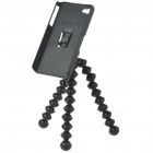 Protective Back Case + Flexible Joints Camera Tripod for iPhone 4