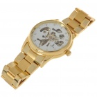 IK Stainless Steel Self-Winding Mechanical Wristwatch (White + Golden)