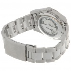 IK Stainless Steel Self-Winding Mechanical Wristwatch (White + Silver)