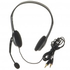 Genuine Logitech H110 Stereo Headset con micrófono - Negro (3,5 mm Jack/240CM-Cable)