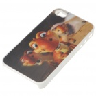 Protective PC Back Case with 3D Graphic for iPhone 4 - Ice Age Cartoon Figures (Multi-Color)