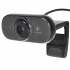 Genuine Logitech C210 300KP USB 2.0 Webcam with Built-in Microphone (Black)