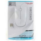 A20 2.4GHz Wireless Optical Mouse with USB Receiver - White (1*AA)
