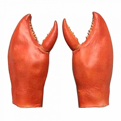 Novelty Lobster Claws Gloves, Halloween Party Cosplay Cartoon Crab Lobster Costume, Unique Carnival Fancy Cosplay Props Red