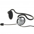 Genuine Logitech Behind-the-Head Headset with Microphone (3.5mm Jack/2.0M-Cable)