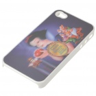 Protective PC Back Case with 3D Graphic for iPhone 4 - Snow White