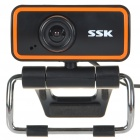 SSK Driver-Free 1.3 Mega Pixel USB Webcam with Microphone & Clip - Black + Orange