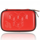 Stylish Protective Carrying Pouch with Hand Strap + Cleaning Cloth for Nintendo 3DS - Red