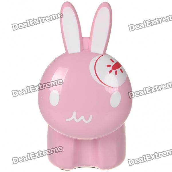 Cute Rabbit Style USB Rechargeable 12-LED White Light Energy Saving Desk Lamp - Color Assorted