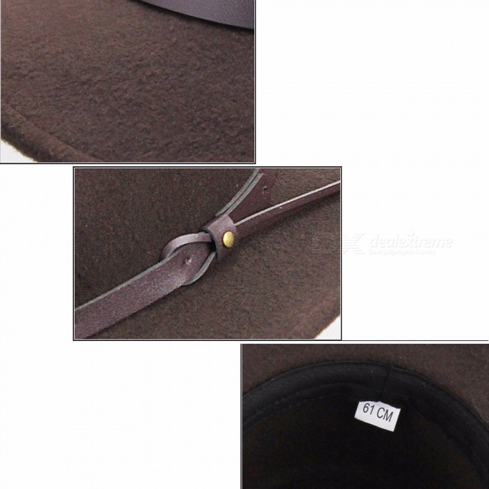 ... Western Cowboy Hats For Men Wide Brim Sun Visor Cap Sombreros Autumn  Winter Felt Hat Male ... 6fc12bb27aba