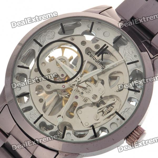 Genuine IK Coloring Stainless Steel Manual-Winding Mechanical Wristwatch (Silver)