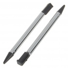 Aluminum + Plastic Extendable Stylus for Nintendo 3DS - Black (2-Piece Pack)