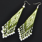 Fashion Elegant Colored Glass Beads Earrings (Color Assorted)
