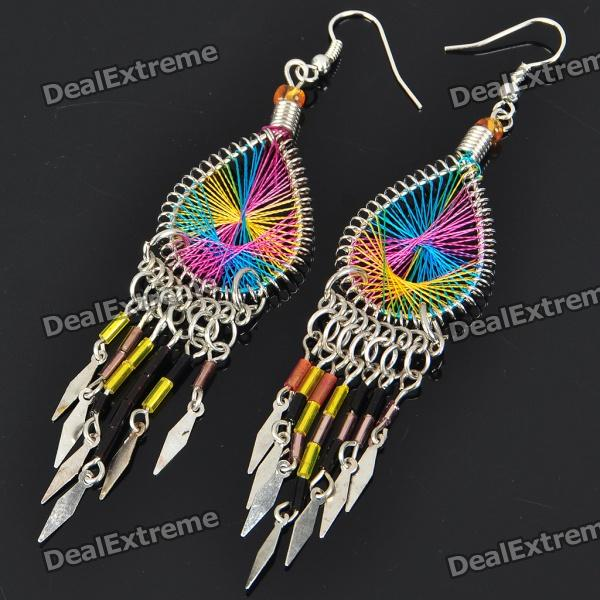 Fashion Elegant Colored Winding Acrylic Earrings (Color Assorted)