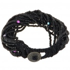 Fashion Elegant Colored Glass Beads Bracelet (Black)