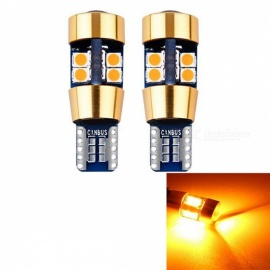 JRLED T10 5W Yellow Light 19-SMD 3030 LED Indicator Lamps (2 PCS)