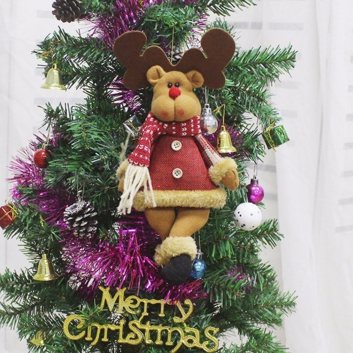 Decorative Christmas Plush Doll, Xmas Ornaments Pendant Holiday Gift Stuffed  Red - Decorative Christmas Plush Doll, Xmas Ornaments Pendant Holiday Gift