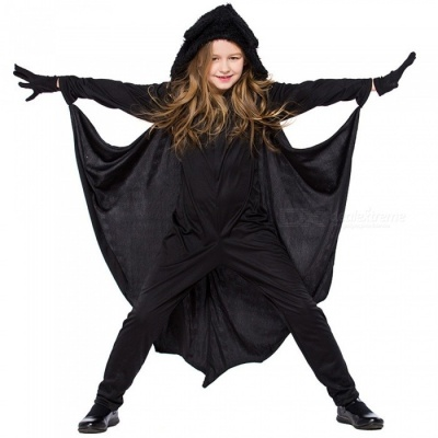 Halloween Cosplay Clothing Neutral Children Jumpsuit Pretend Play Costume Bat Shirt Black/S/Batman