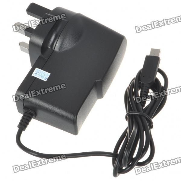 UK Type Travel Charger/Power Adapter for Nintendo 3DS - Black (85~265V)
