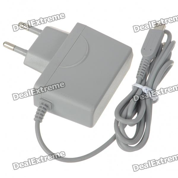 EU Type Travel Charger/Power Adapter for Nintendo 3DS - Grey (100~250V)