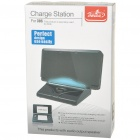 Compact Charging Docking Station with Blue Light for Nintendo 3DS - Black