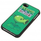 Plants vs. Zombies Protective Back Case with Screen Protector Set for iPhone 4 - Peashooter
