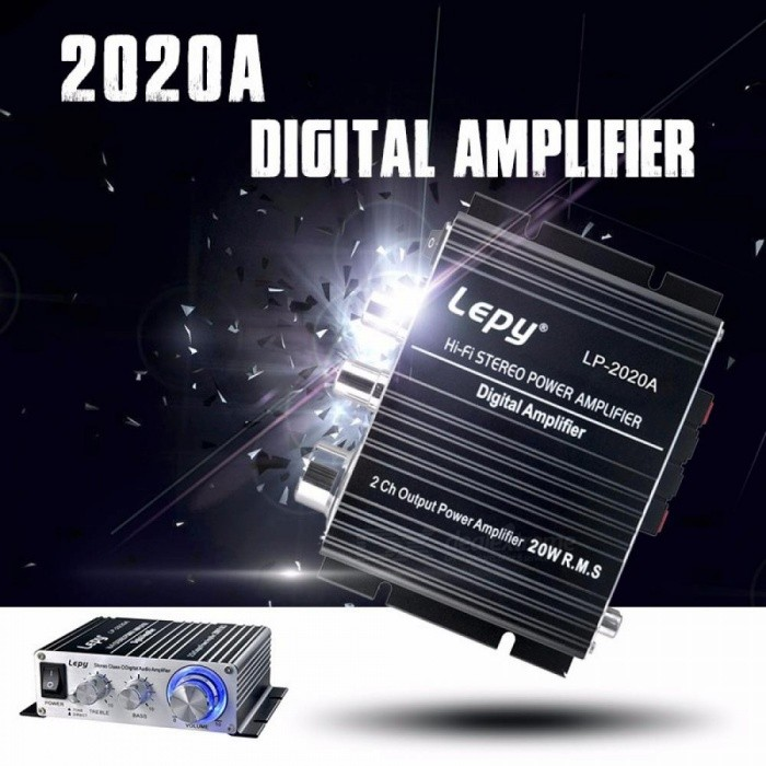 Lepy LP-2020A Amplifier Lp2020a HiFi Digital Audio Stereo Power Amplifiers Aluminum Enclosure