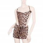 Sexy Lingerie Leopard Costume Dress + G-String Set